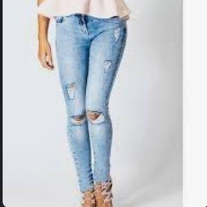 WAX JEAN Destrised Wash Jeans Junior's Size 13